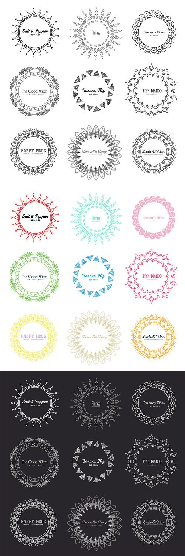Mandala - 27 Logos in PSD