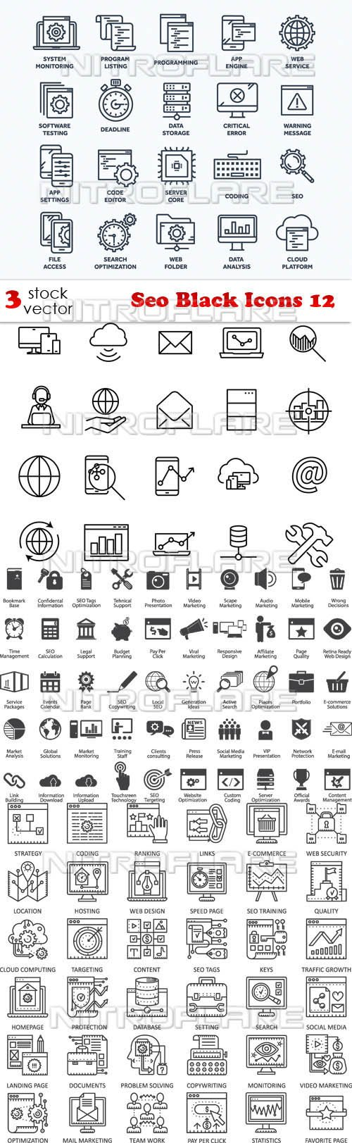 Vectors - Seo Black Icons 12