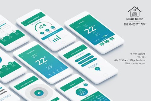 Thermostat App UI Kit