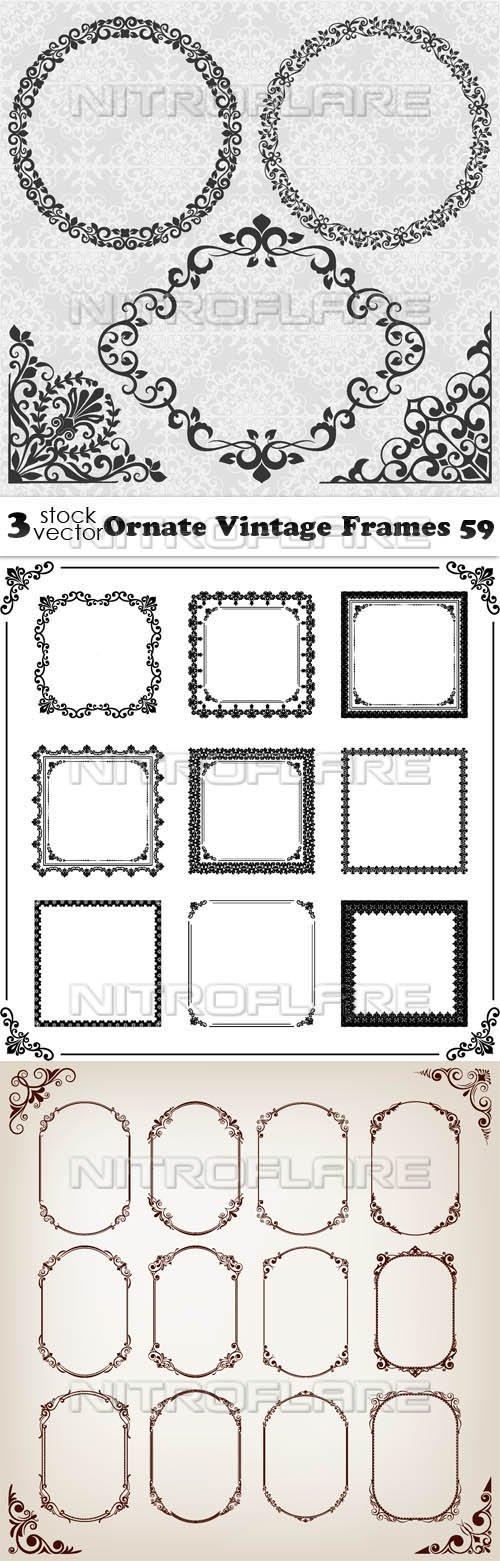 Vectors - Ornate Vintage Frames 59
