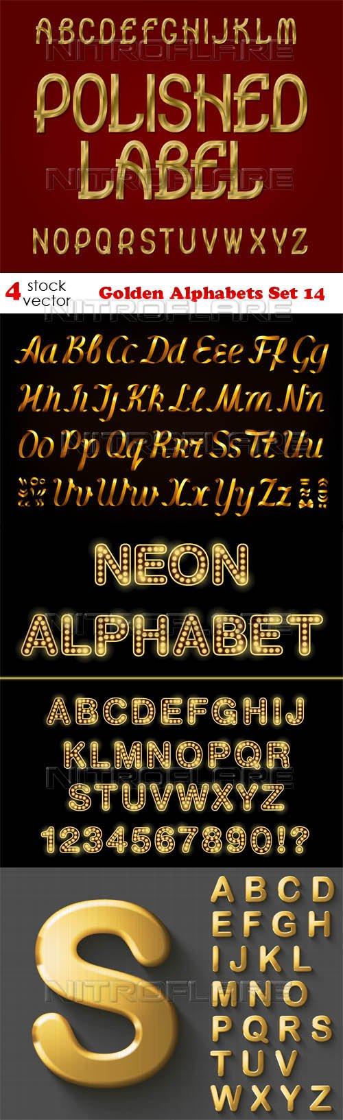 Vectors - Golden Alphabets Set 14