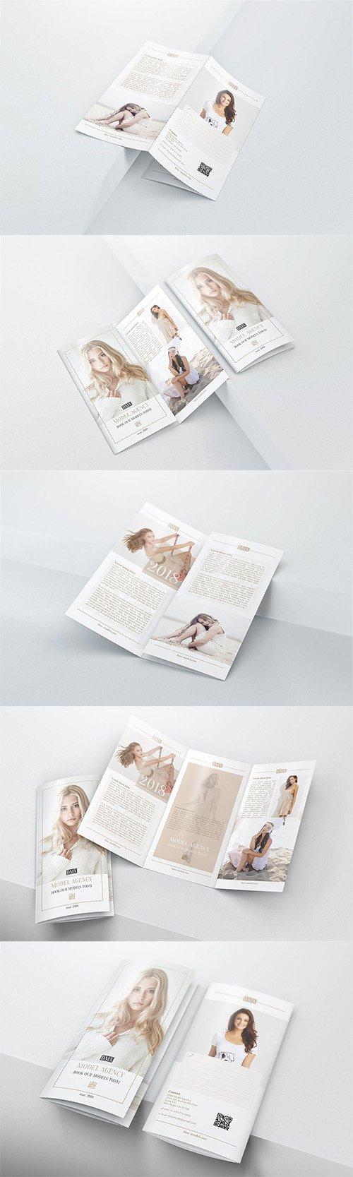 DL Trifold Brochure Mockups