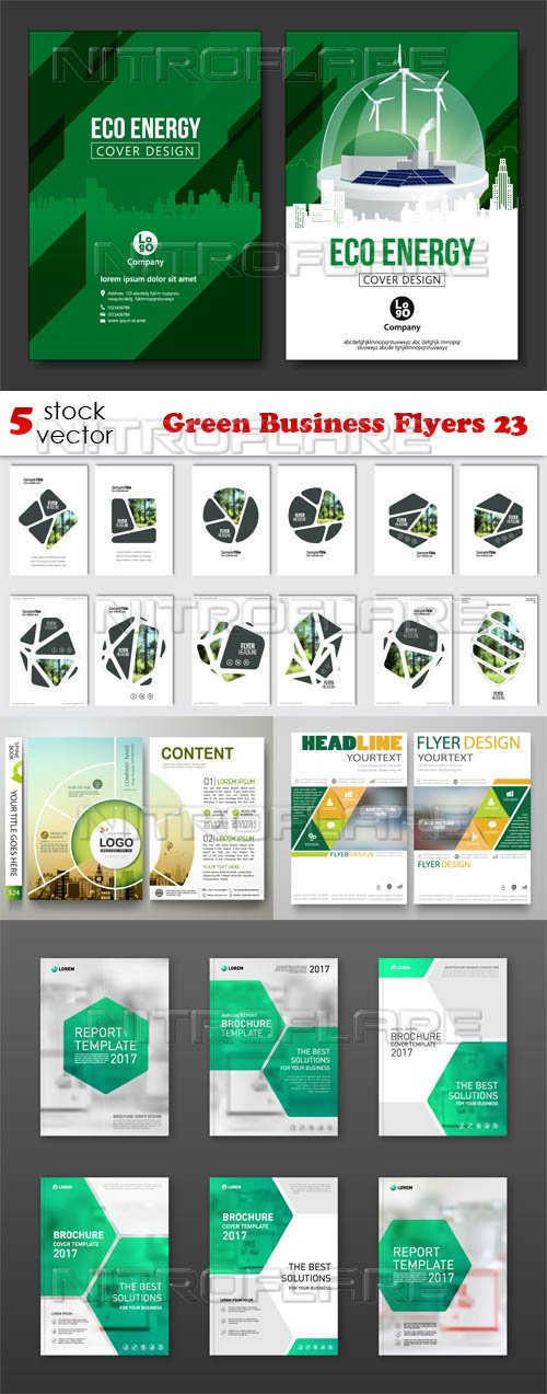 Vectors - Green Business Flyers 23