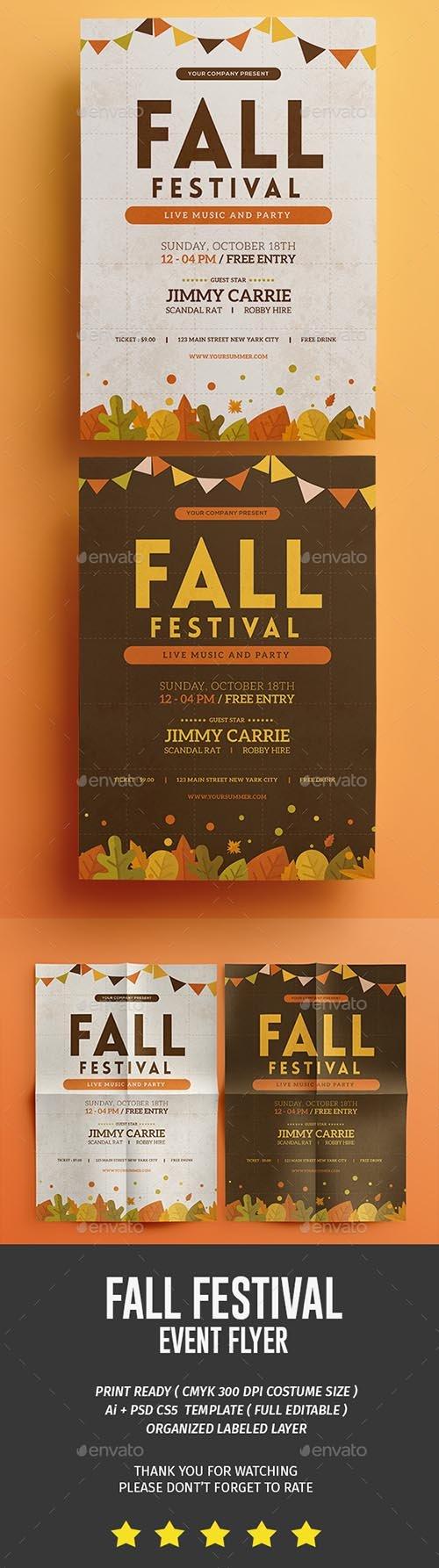 Fall Festival Flyer 18049266