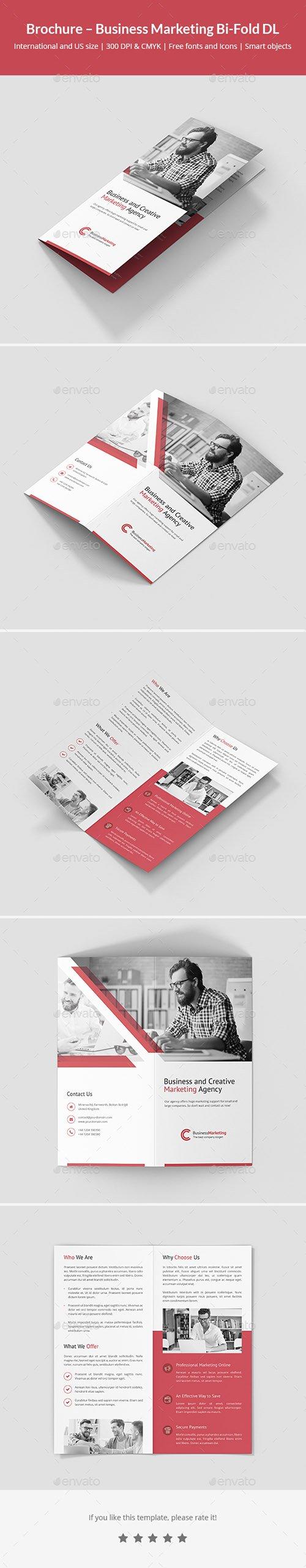 Brochure – Business Marketing Bi-Fold DL 21399882