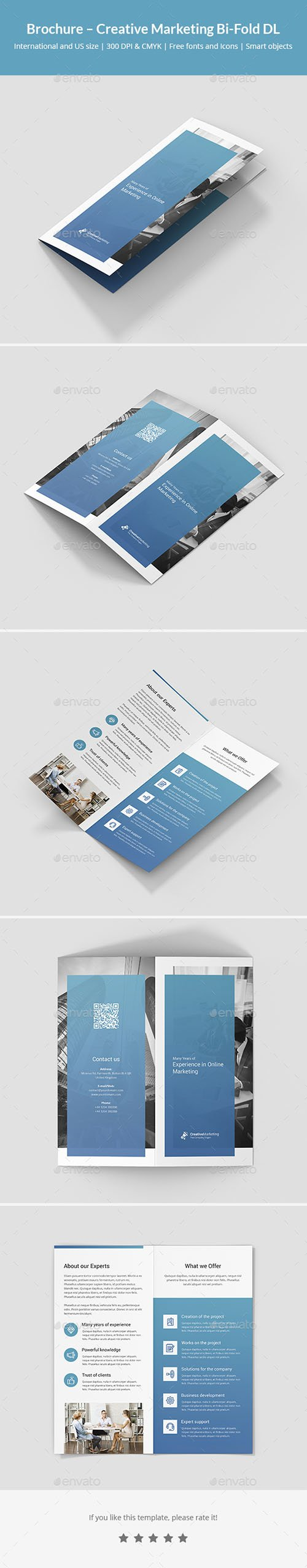 Brochure – Creative Marketing Bi-Fold DL 21403305