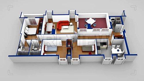 MA - House Scaled Model 3D Blueprint 64294