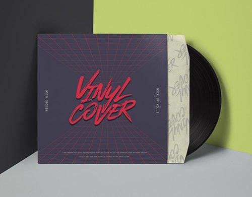 Vinyl Cover Record Mockup Vol 4