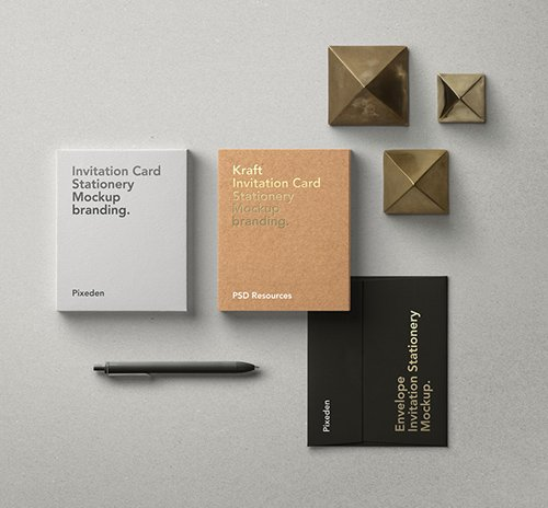 Invitation Card Mockup Vol 8