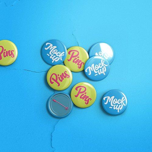 Pin Badge Mockup Template