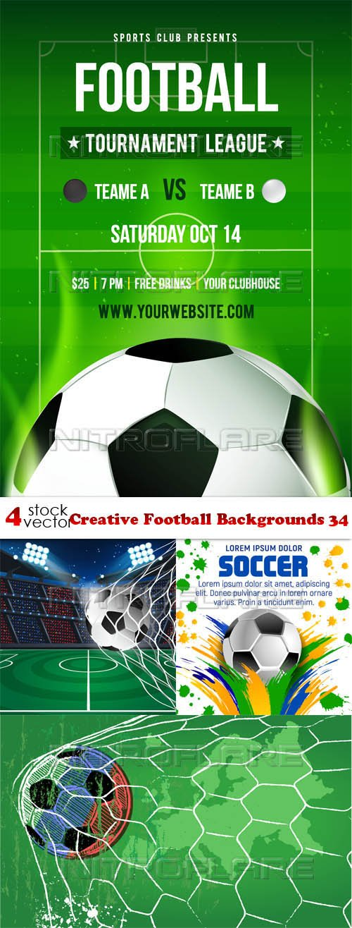 Vectors - Creative Football Backgrounds 34