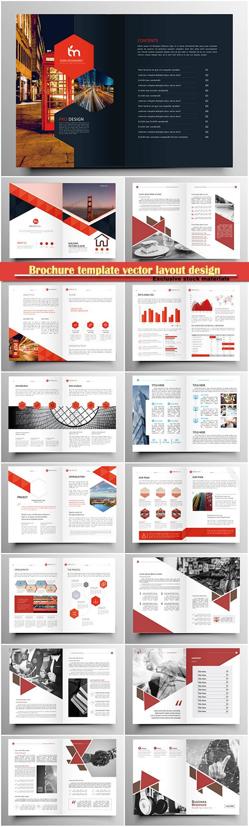 Brochure template vector layout design, corporate business annual report, magazine, flyer mockup # 130