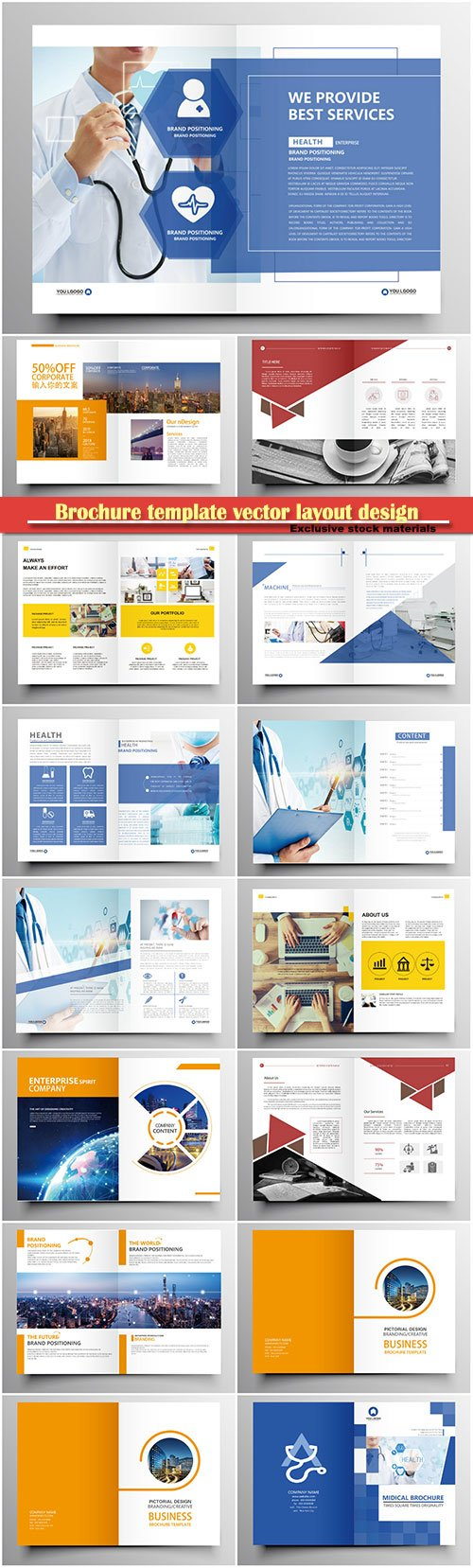 Brochure template vector layout design, corporate business annual report, magazine, flyer mockup # 132