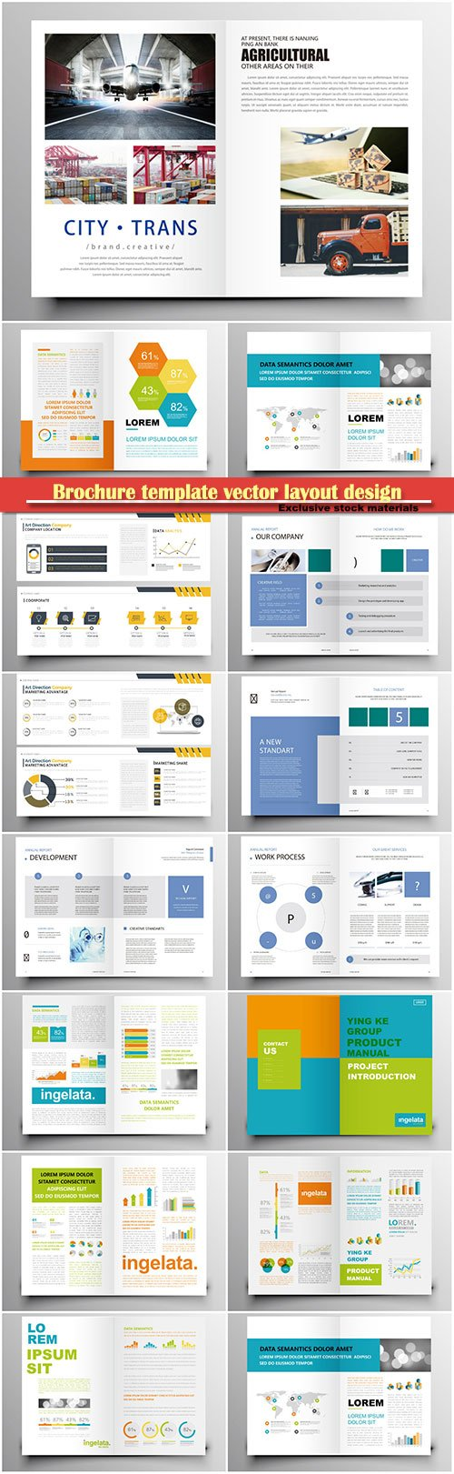 Brochure template vector layout design, corporate business annual report, magazine, flyer mockup # 133
