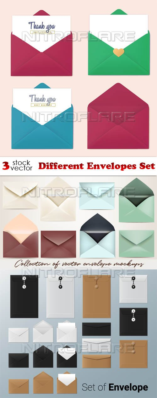 Vectors - Different Envelopes Set