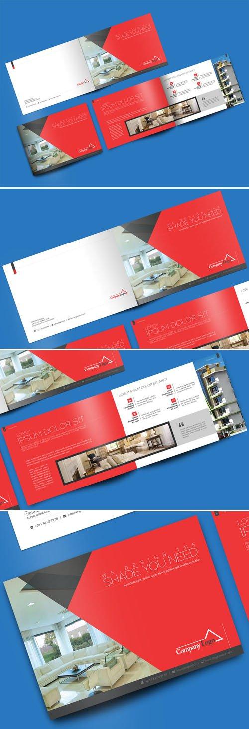 Landscape Brochure PSD Mockup