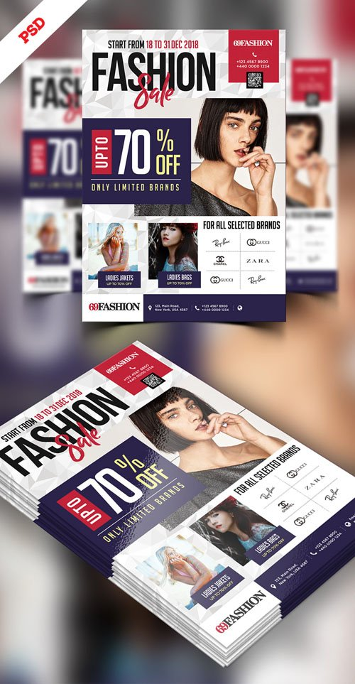 Exclusive Sale Flyer Design PSD Template