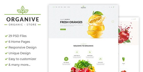 ThemeForest - Organive v1.0 - Organic Store & Eco Food Products PSD Template - 21239733