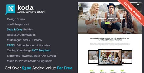 ThemeForest - Koda v1.7.0 - Creative Multi-Purpose Theme for Beginners and Professionals - 16855014