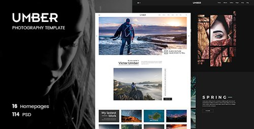 ThemeForest - Umber Photography v1.0 - Photography PSD Template - 21333905