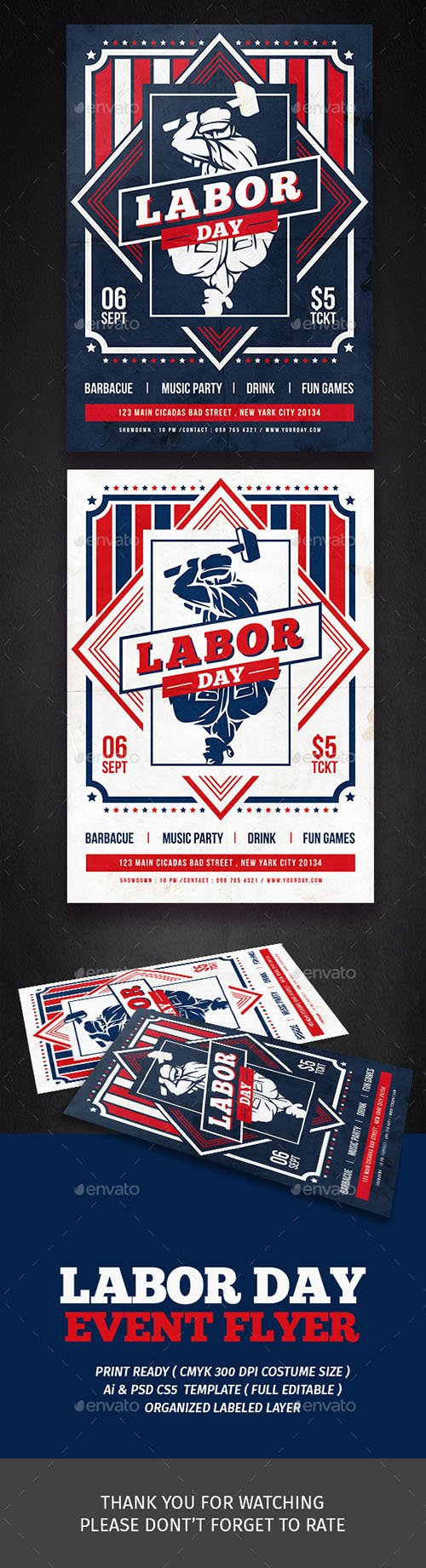 Labor Day Festival Flyer 17590606