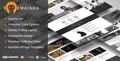 ThemeForest - Maisha v1.6.7 - Charity WordPress Theme - 11575885