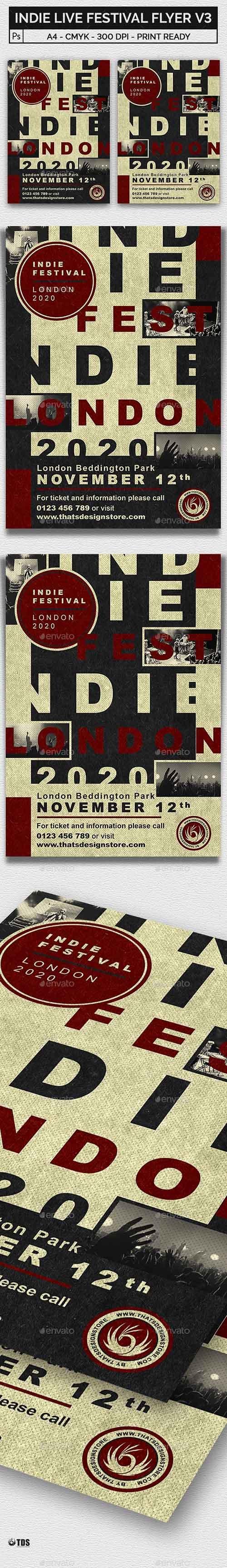 Indie Live Festival Flyer Template V3 21450723