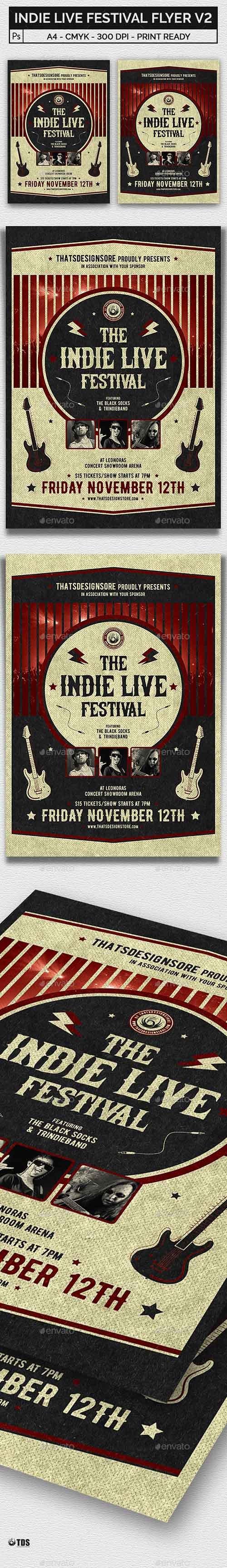 Indie Live Festival Flyer Template V2 21450189