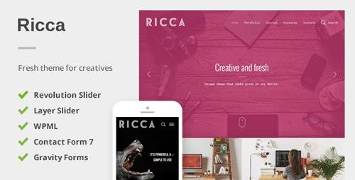 ThemeForest - Ricca v1.1.6 - A Fresh Responsive Theme For Creatives - 10403883