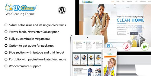 ThemeForest - We Clean v1.8 - Cleaning Business WordPress Theme - 13563609