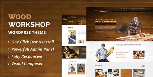 ThemeForest - Wood Workshop v1.8 - Carpenter and Craftsman WordPress theme - 16120374