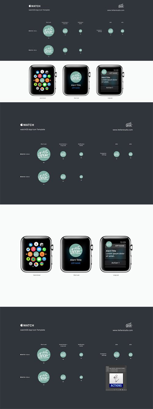 watchOS App Icon Template
