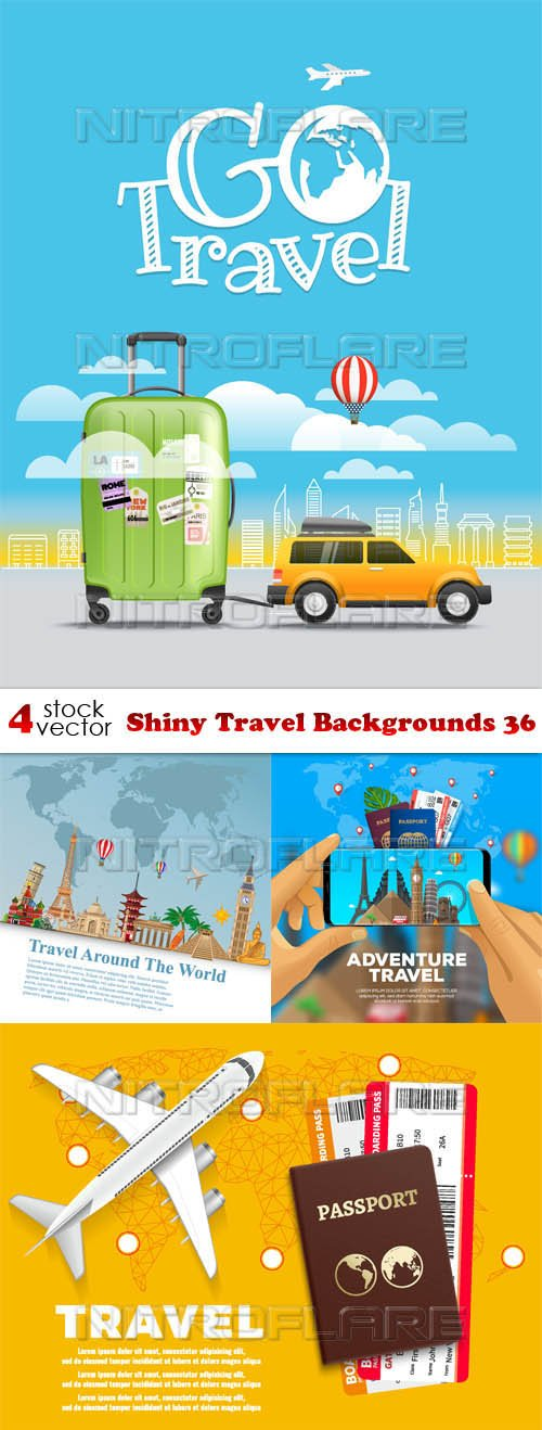 Vectors - Shiny Travel Backgrounds 36