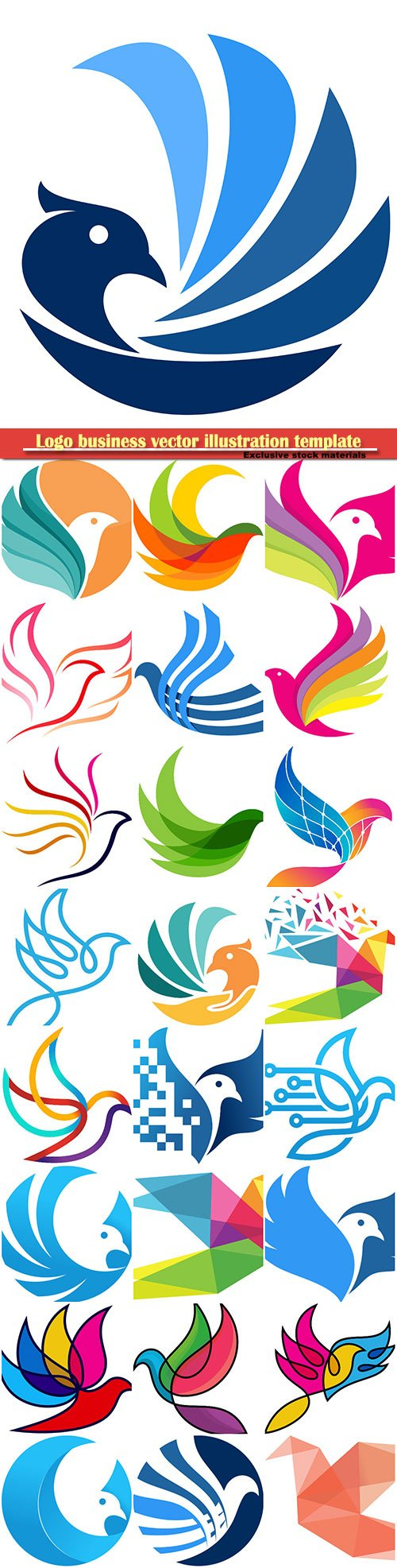 Birds logo business vector illustration template # 83