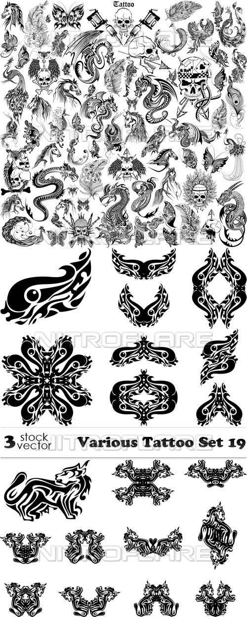 Vectors - Various Tattoo Set 19