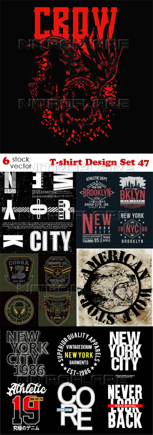 Vectors - T-shirt Design Set 47