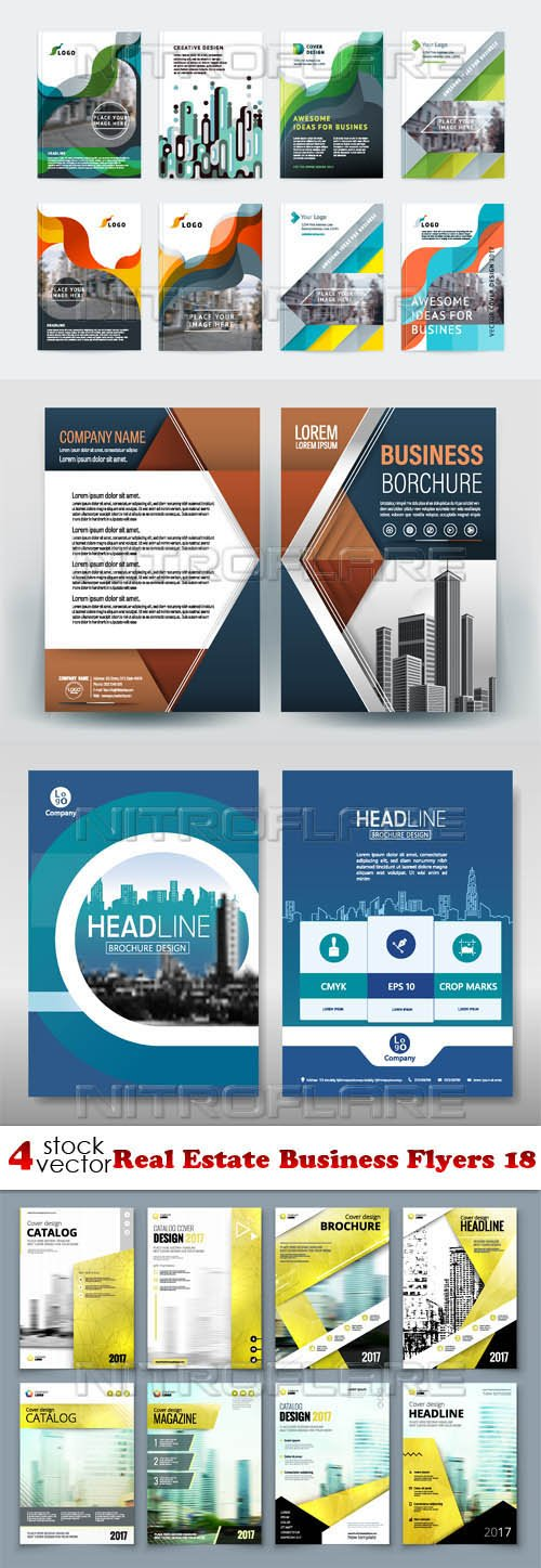 Vectors - Real Estate Business Flyers 18