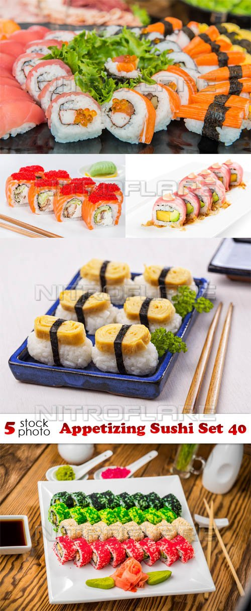 Photos - Appetizing Sushi Set 40