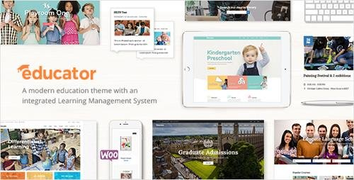ThemeForest - Educator v1.0 - An Education and Learning Management System Theme - 20528303