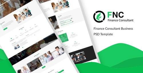 ThemeForest - FNC v1.0 - Finance & Consulting, Accounting PSD Template - 21279384