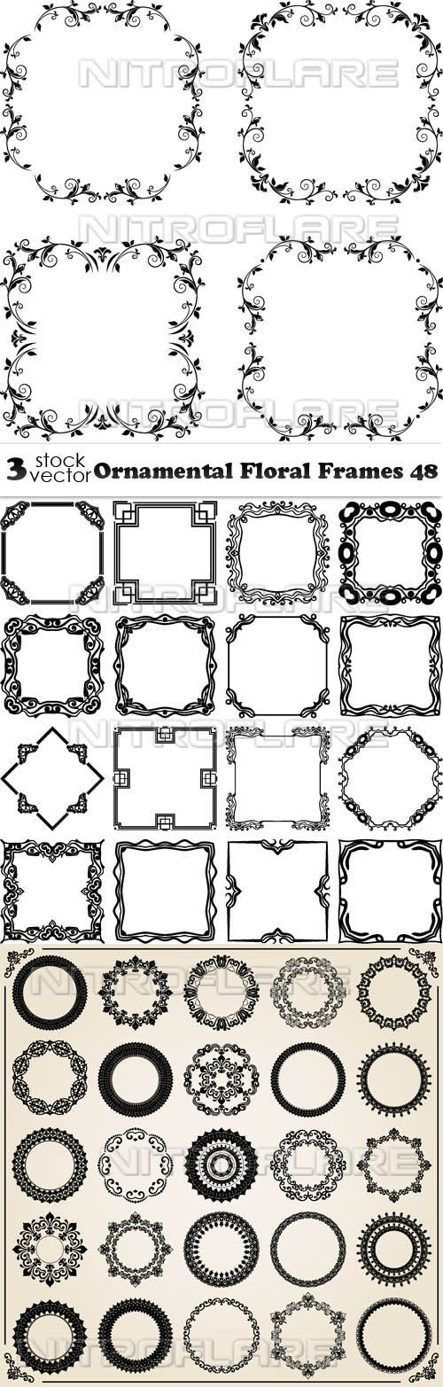 Vectors - Ornamental Floral Frames 48