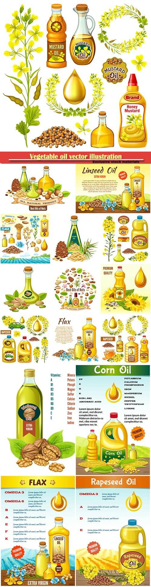 Vegetable oil vector illustration