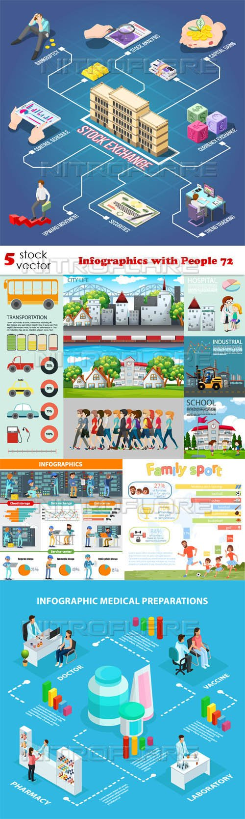 Vectors - Infographics with People 72