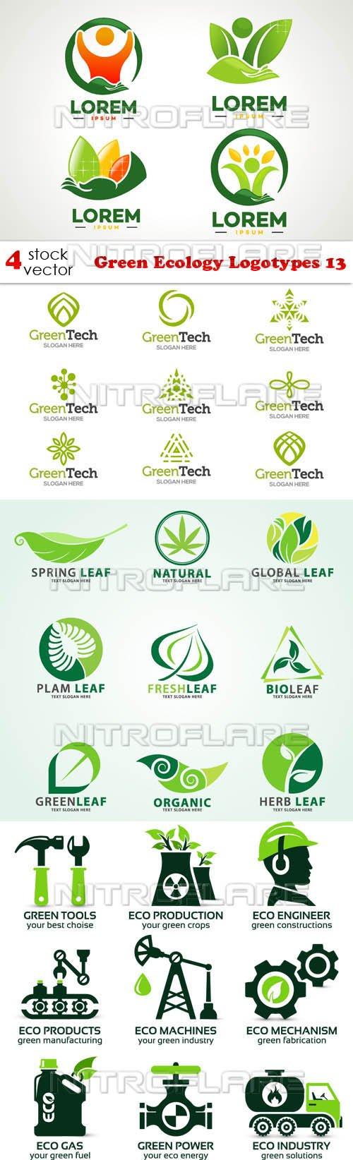 Vectors - Green Ecology Logotypes 13