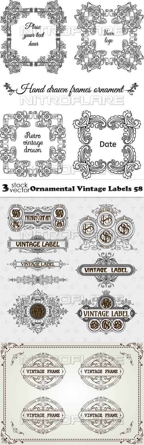 Vectors - Ornamental Vintage Labels 58