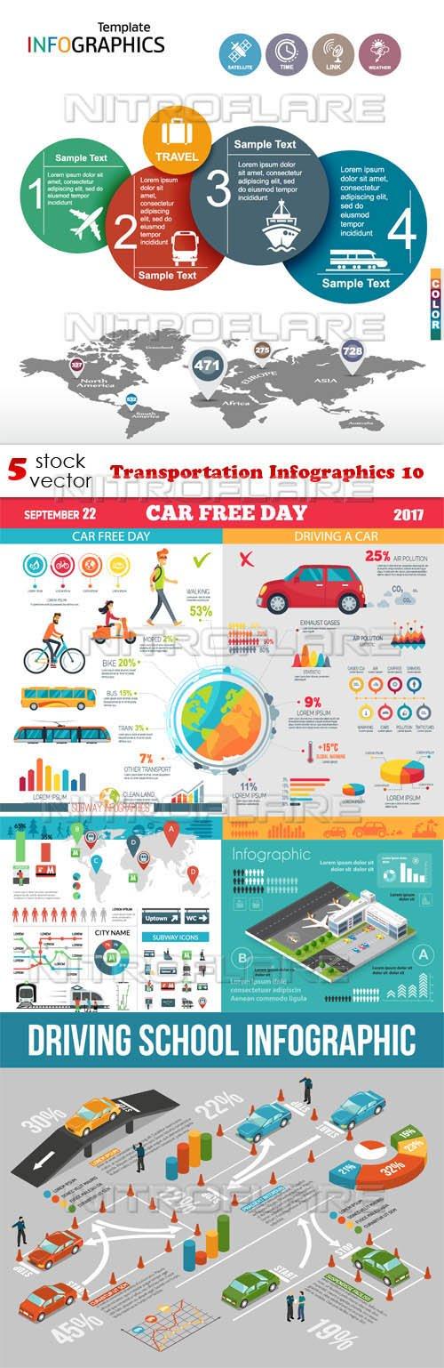 Vectors - Transportation Infographics 10