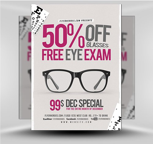 PSD Eye Exam Flyer