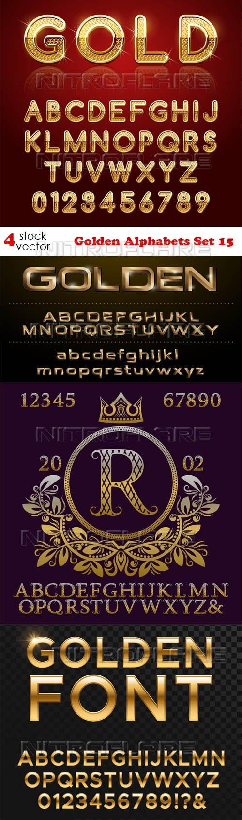 Vectors - Golden Alphabets Set 15