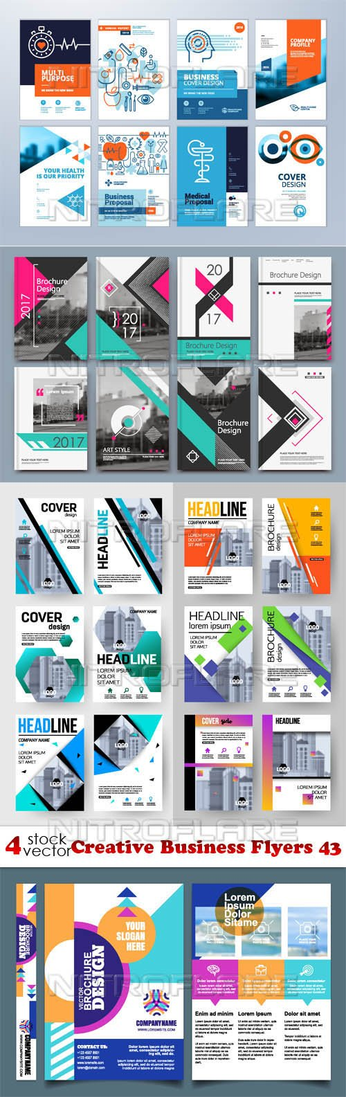 Vectors - Creative Business Flyers 43