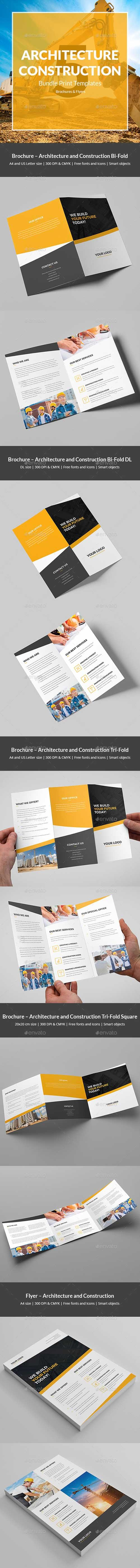 Architecture and Construction – Bundle Print Templates 5 in 1 21330460